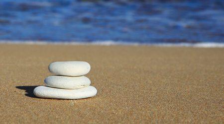 Rocks on Beach at Sea